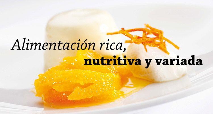 Alimentación rica, nutritiva y variada
